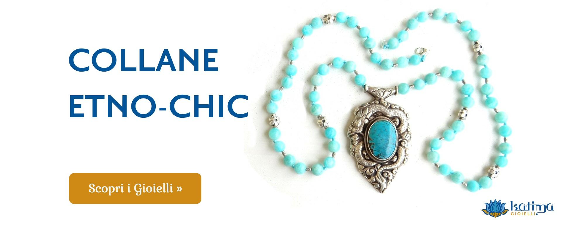 design di qualità 0c9aa 3a319 Collane artigianali, bracciali orecchini stile etnico boho
